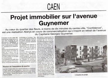 Caen, Quartier des Fleurs, avenue du capitaine Georges Guynemer, AKERYS, Liberté, Le Bonhomme Libre, publi-reportage,