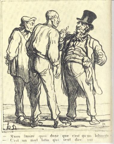 Charlie Macron, Poutine Le Pen, Honoré Daumier, plébiscite