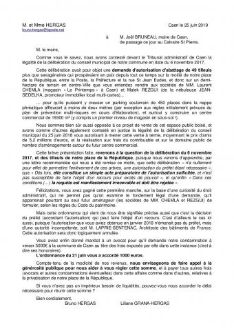 Tribunal administratif de Caen, place de la République à Caen, autorisation d'abattage de 49 tilleuls, article R.222-1 du Code de justice administrative (CJA), art. L.761-1 du CJA, Dominique LAPRIE-SENTENAC Architecte des Bâtiments de France, Jean-Paul OLLIVIER DRAC Normandie, Plan de prévention multirisques de la basse vallée de l'Orne (PPMR-BVO), Projet République, halle gourmande, Joël Bruneau maire de Caen, Sonia de la Provôté, Cabinet Bérénice, demande anticipée de prescription d'archéologie préventive, Direction régionale des affaires culturelles (DRAC), Code du patrimoine, Laurent CHEMLA Le Printemps, Malek REZGUI Sedelka