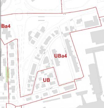 Caen, Plan Local d'Urbanisme (PLU) zone UB, secteur UBa4, Professeur Xavier LE COUTOUR, Philippe DURON, espaces verts garantis, cœurs d'îlot verts, 160 rue de la Délivrande